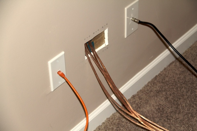 Speaker Wire Wall Outlet