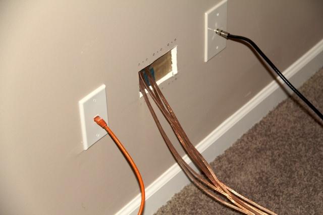In Wall Speaker Wire : Speaker wire wall outlet