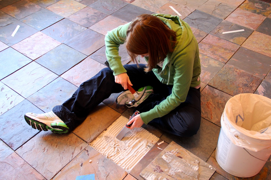 Updates On The Slate Tile Floor And Kitchen Pantry