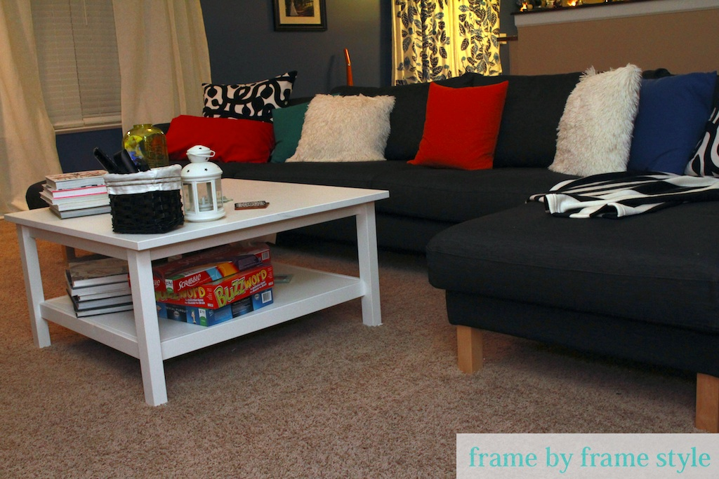 We decided to go with white coffee table to contrast ... - Living Room - Hemnes Coffee Table Ikea IDI Design