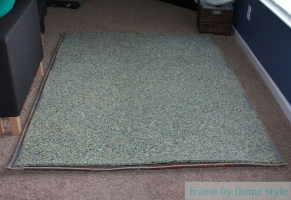 rug with carpet pad added